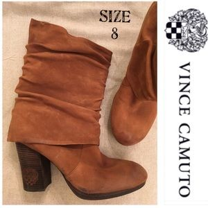 Vince Camuto Cassandra Boot Brown Slouchy Leather